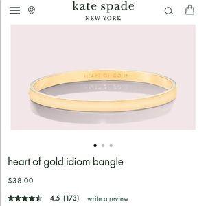 ♠️ Kate Spade ♠️ Heart of gold bracelet